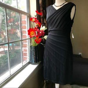NWT London Times stretchy black shift dress LBD